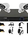 TWVISION® 4CH 960H HDMI CCTV DVR 2x Outdoor 800TVL Security Camera System