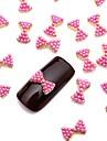 10st 3d glittrig rosa pärla legering fluga nail art design smycken för daglig diy fransk manikyr