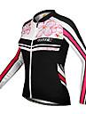SANTIC Maillot de Cyclisme Femme Manches longues Velo Maillot Hauts/TopsGarder au chaud Pare-vent Design Anatomique Resistant aux