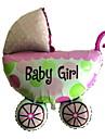 Pink Baby Carriage Metallic Balloon