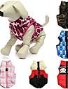 Katter Hundar Kappor Vest Röd Grön Blå Rosa Beige Ros Hundkläder Vinter Rosett Kamouflage Ledigt/vardag