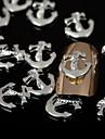 50pcs guld guld- legering nail art dekorationer spik smycken för salong naglar och daglig diy manikyr