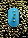 100st 2mm gyllene små runda metall nit nail art dekoration