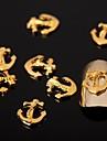 50pcs decorations d\'art alliage d\'argent a ongles bijoux ongles pour les ongles et manucure de salon bricolage quotidienne