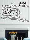 väggdekorationer väggdekaler, kaffe engelska ord&citerar pvc väggdekorationer