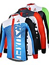ARSUXEO Cycling Tops / Jerseys Men\'s Bike Breathable / Quick Dry / Front Zipper / Anatomic Design Long Sleeve Stretchy 100% Polyester