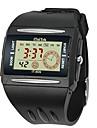 Bărbați Ceas Sport Ceas de Mână Piloane de Menținut Carnea LCD Calendar Cronograf alarmă Cauciuc Bandă Negru Negru Galben Rosu Albastru