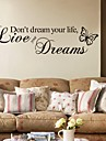 Mots & Citations Stickers muraux Stickers avion Stickers muraux decoratifs Materiel Amovible Decoration d\'interieur Calque Mural