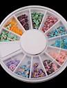 12 färg frukt mjuk keramik bee serien skivspelare nail art dekoration
