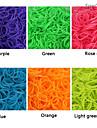 baoguang®600pcs culoare curcubeu război de țesut banda de cauciuc fluorescent război de țesut de moda (clip 1package s, culori asortate)