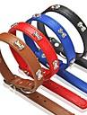 Chien Colliers Ajustable/Reglable Rouge / Noir / Bleu / Marron Cuir PU