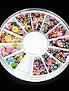 1600pcs faux ongle bijoux acrylique art strass fleur de fleur de paillettes pour les decorations de nail art&conception