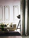 Deux Panneaux Europeen Vin Cyan Chambre a coucher Polyester Panneau Rideaux rideaux