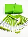24pcs vert frais professionnelle de haute qualite pinceau de maquillage ensemble