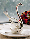 Serving Sets Wedding Cake Knife Fruit Serving Set With Alloy Swan Base(Set of 6)