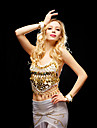 Dancewear Tulle Belly Dance Top For Ladies (mais cores)