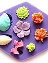 mini ros skal bowknot blomma formad fondant tårta choklad silikonform cupcake dekoration verktyg, l8.5cm * w7.5cm * h1.3cm