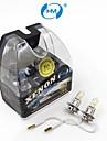 HM® H3 12V 100W Halogenlampe Scheinwerfer gelben Gluehbirnen (ein Paar)
