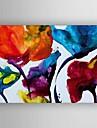 lienzo pintado a mano pintura al oleo moderna pintura abstracta con estirada enmarcada