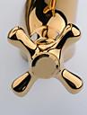Rose Gold Finish Zwei Handle Centerset Dragon Head Stil Waschbecken Wasserhahn