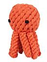 Chiens Jouets pour Animaux Jouets de mastication Corde / Pieuvre Orange Tissu