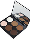 6 Highlighters/Bronzers Torr Matt Puder Ansikte
