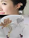 Cătușe pentru urechi Ștras Aliaj Animal Shape Fluture Argintiu Auriu Bijuterii Pentru Nuntă Petrecere Zilnic Casual 1 buc