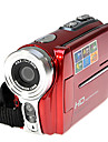 hd 720p rich® 5mp zoom 16x camera video numerique camescope dv rouge