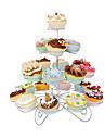 23 count 4 tier cupcake står för bröllop / födelsedagsfest, muffintorn, rostfritt stål