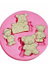 forme de dessin anime ours en peluche moule moule en silicone decoration de gateaux en silicone pour fondantes artisanat de bonbons bijoux
