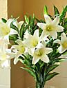 Gren Kiselgel Liljor Bordsblomma Konstgjorda blommor 71.12 x 10.16 x 10.16(28\'\' x 4\'\' x 4\'\')