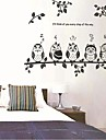 Owls And Branch of Children\'s Room/ Livingroom/ Bedroom Wall Sticker