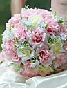 mariage mariee romantique bouquet de mariage avec des fleurs, la simulation de colth de soie rose