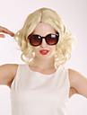 Femme Perruque Synthetique Court Blond clair Noir perruque Perruque Halloween Perruque de carnaval Perruque Naturelle Perruque Deguisement