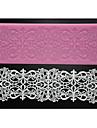 quatre c fournitures sucre d\'art de tapis de dentelle moule a cake en silicone de cuisson, la couleur des outils de gateau en silicone mat