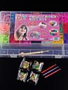 bandes de baoguang®loom bandes de couleur aleatoire regles (4200pcs bandes de caoutchouc, les clips de quatre paquets, 1looms, trois crochets + 1Box)
