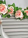 """78 """"l ensemble de 16 fleurs rose fleurs de soie en rotin fleurs en tissu"""