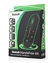 kit voiture mains libres Bluetooth clipse sur la voiture pare-soleil, bluetooth 4.0 peut supporter deux telephones simultanement