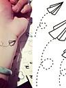 Tatueringsklistermärken - Non Toxic/Ländrygg/Waterproof - Annat - till Barn/Dam/Herr/Vuxen/Tonåring - Svart/Blå - Papper - 1 - styck6*10.5cm