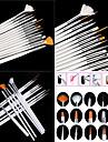 15st vita nagel konst design målning ritning penna pensel inställd trähandtag akryl pensel