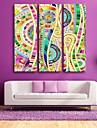 e-Home® Sträckta Canvas konst färgmönstret dekorativt måleri uppsättning av 3