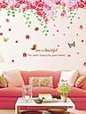 stickers muraux stickers muraux grande fonctionnalite romantique fleur de cerisier PVC amovible lavable