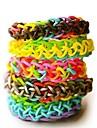 4400pcs färgglada diy regnbåge färg vävstol stil silikon band armband 4400pcs band, 12 s-klipp, 1 vävstolar, 1hook + 1box