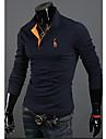 T-Shirts ( Coton melange ) Informel Col chemise a Manches longues