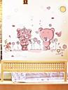 väggdekorationer Väggdekaler, vackra romantiska björnar pvc väggdekorationer