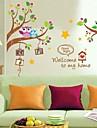 Djur / Tecknat Wall Stickers Väggstickers Flygplan Dekrativa Väggstickers,PVC Material Kan ompositioneras Hem-dekoration vägg~~POS=TRUNC