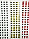 500 pcs Leurre souple leurres de peche Leurre souple Argent Dos noir dore Rouge 0.03 g/<1/18 Once mm pouce,PE Peche en mer