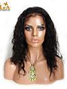 """8 """"-26"""" indian jungfru hår naturlig våg limfria spets front peruk färg naturligt svart baby hår för svarta kvinnor"""