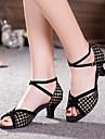 Non Customizable Women\'s Dance Shoes Latin Suede Cuban Heel More Colors