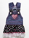 Dog Dress Blue Summer Jeans / Polka Dots Cosplay